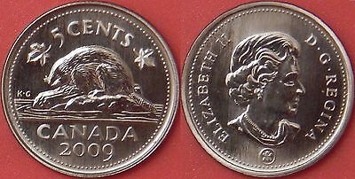 Specimen 2009 Canada 5 Cents From Mint's Set
