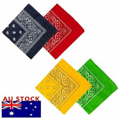 100% COTTON BANDANA Paisley Head Wrap Bandana Scarf Durag Headwrap Summer Mask