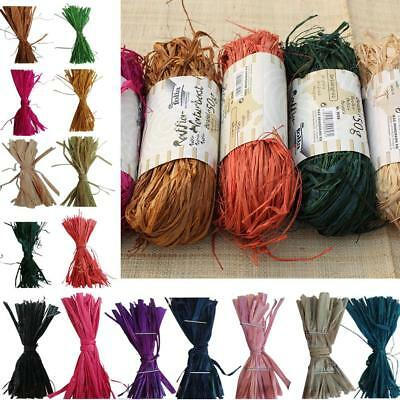 Natural Raffia Fibre Ribbon Gifts Scrapbooking Making DIY Decoration Package