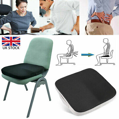 Memory Foam Seat Cushion Coccyx Orthopedic Pain Relief Office Car Chair Pads UK