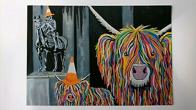 STEVEN BROWN ART - OFFICIAL Geordie McCoo & The Wee Yin A4 Semi Gloss Print NEW