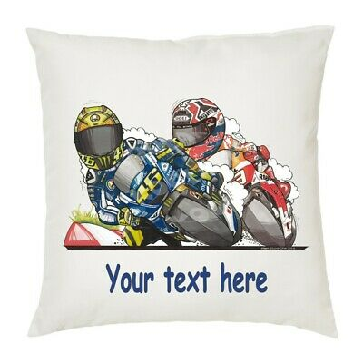 Personalised Koolart Valentino Rossi Marc Marquez Motorcycle Cushion Cover