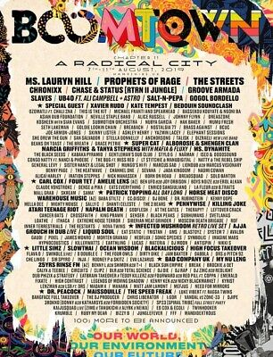 Boomtown Festival ticket Wednesday Entry with EcoBond 2019 7th-12th August