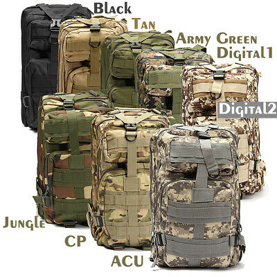 30L Hiking Camping Bag Army Military Tactical Trekking Rucksack Backpack Camo PV