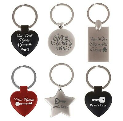 Personalised Engraved New Home Keyring/Keychain First Home Gift Keys Couples