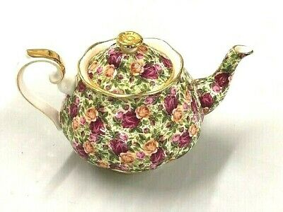 Royal Albert Vintage Old Country Roses Chintz Collection Large Teapot
