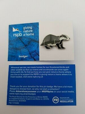 RSPB Pin Badge | badger GNAH BLUE (01472)