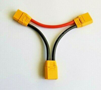 XT90 Connector in Series Harness 10awg Lead Adapter Cable for ESC Batteries sh