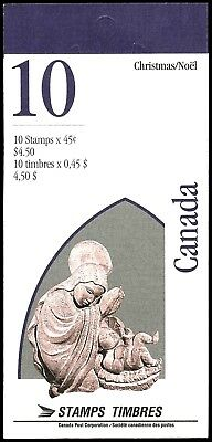 Canada Stamp Booklet #BK187(1995)#1585a  Nativity Christmas-Capital Sculptures