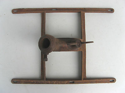 1890s FLAG BRACKET/HOLDER Cast Iron ADJUSTABLE to HALF MAST- ANTIQUE