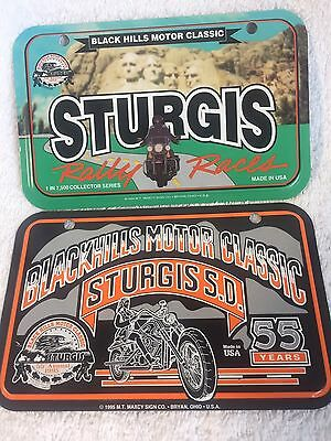 Set Of Two Harley Davidson Sturgis License Plates Made In USA Plate Motorcycle