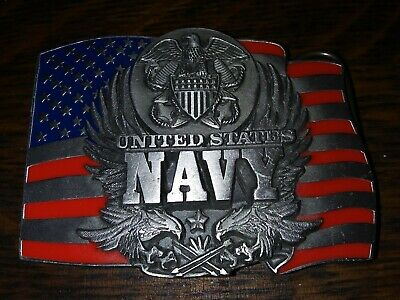 Vintage Siskiyou 1991 **United States Navy** Military Commemorative Belt Buckle