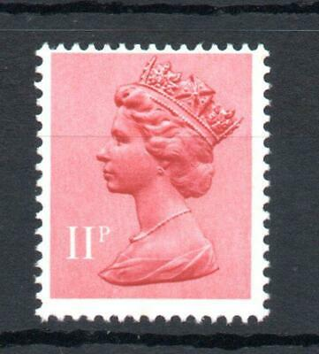 11p MACHIN UNMOUNTED MINT WITH PHOSPHOR OMITTED