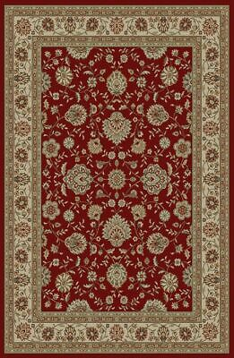 Approx 7/'10/'/' Round 8x8 Elegance Red Traditional Flowers Vines 5370 Area Rug