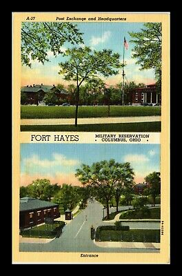 Dr Jim Stamps Us Army Military Reservation Fort Hayes Columbus Ohio Postcard