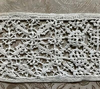 "20.5""/52 cm BEAUTIFUL RARE 17th/18th CENTURY RETICELLA LACE, ITALIAN GENOESE 297"