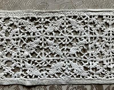 "20.5""/52 cm BEAUTIFUL RARE 17th/18th CENTURY RETICELLA LACE, ITALIAN GENOESE 296"