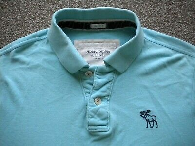 "Abercrombie & Fitch Mens Turquoise Polo Shirt,Xxl 44"",Ex Con..."