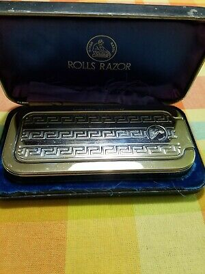 Vintage Rolls Razor Made in England 1927 Sheffield Steel. Blue case.