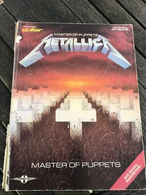 Master of Puppets Metallica Guitar/Vocal with Tablature Song Book Battery Orion