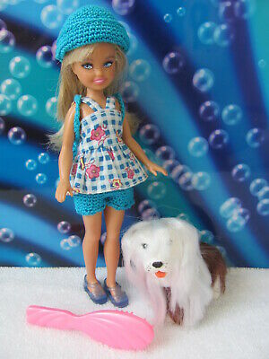 Barbie Sister Stacie 2008 Camping Doll Re-styled with vintage 1989 Sweetie Pups