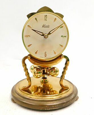Vintage KUNDO Germany Brass 16cm TABLE CLOCK Spares & Repairs - L33