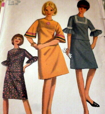 *LOVELY VTG 1960s DRESS  Sewing Pattern BUST 32 Petite