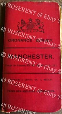 1901 Ordnance Survey - Manchester - One inch to One Mile - sectional Cloth Map