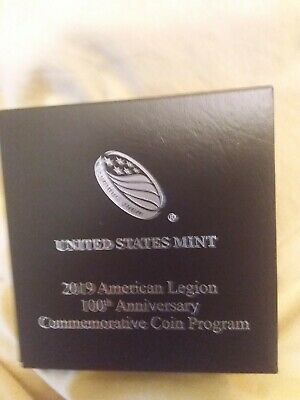2019 P 1oz Silver American Legion 100th Ann UNCIRCULATED Commem $1 Coin & OGP