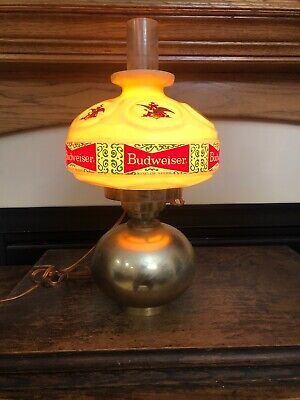 Budweiser beer sign vintage wall sconce lamp light hurricane oil style lighted