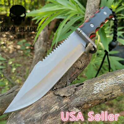 NEW Fixed Survival Military Bowie Camping Hunting Tactical Straight Tool Knives