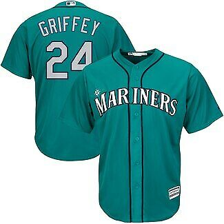 Ken Griffey Jr #24 Seattle Mariners Northwest Green Teal Classic Baseball Jersey