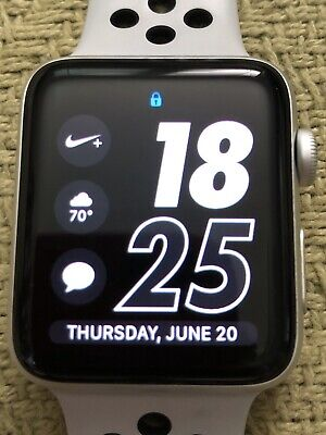 Apple Watch Series 3 Nike+ 42mm Silver - White Nike Sport Band (GPS + Cellular)