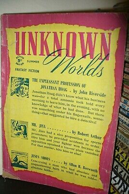 Unknown Worlds Pulp Magazine Uk Edition Summer 1946