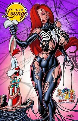 Faro's Lounge Jessica Rabbit VENOMIZED NICE Variant Cover by Jose Varese /50
