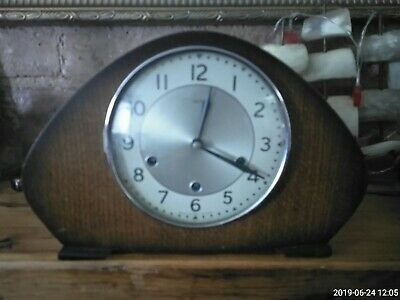 Vintage Smiths Wooden Cased Westminster Chime Mantel Clock, Vgc            #Wo#