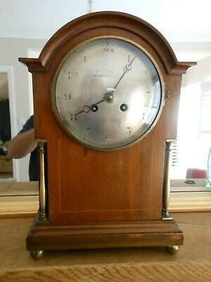 Antique French Japy Freres Solid Mahogany Mantle Clock