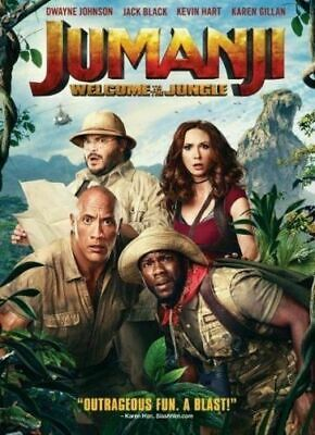 Jumanji: Welcome to the Jungle (DVD,2017) Free USPS First Class shipping!