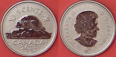 Specimen 2013 Canada 5 Cents From Mint's Set