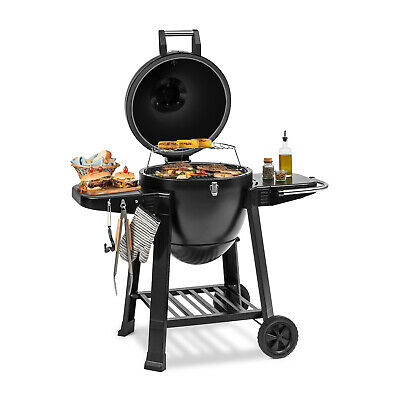 Barbecue Grill Portable Design Oeuf Thermomètre Céramique Tablettes Stable 350°C