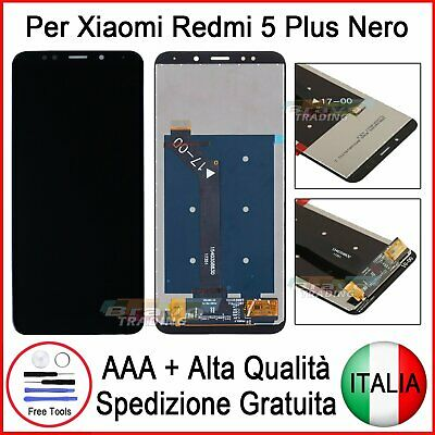 Display Lcd Schermo Xiaomi Redmi 5 Plus Touch Screen Display Monitor Vetro Nero