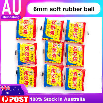 AU 10 Packs 6MM Rubber Soft Bullets Balls for Water Gel Ball Blaster Toy