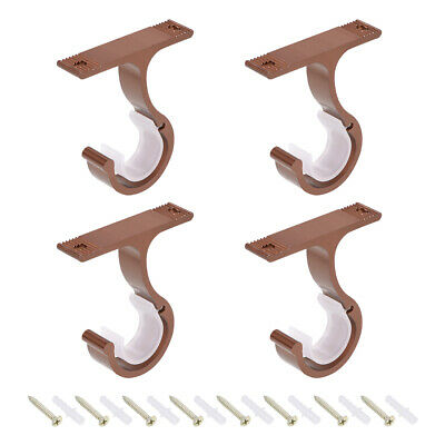 Curtain Rod Bracket Single for 24mm Drapery Rod, 85 x 75 x 18mm Red 4 Pcs