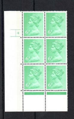 6p FCP/GA MACHIN UNMOUNTED MINT CYLINDER 4 p7 BLOCK Cat £35