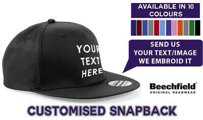8X Personalised Embroidered Printed Baseball Cap Customised Workwear Text//Logo