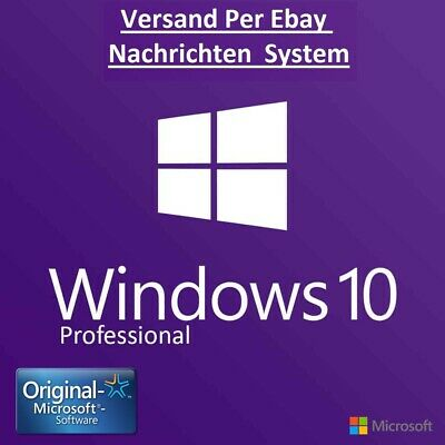 MS Windows 10 Professional WIN 10 PRO Vollversion 32/64Bit✓LIZENZ-KEY per eBay