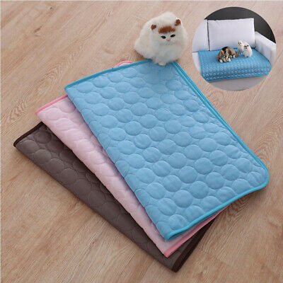 Pet Cooling Mat Non-Toxic Cool Pad Cooling Bed Summer Mattress Heat Relief Puppy