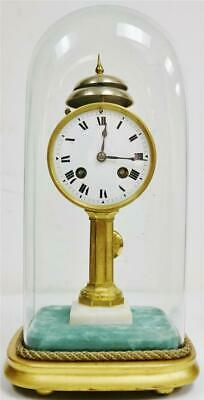 Very Rare Antique French 8 Day 1/4 Striking Ting Tang 2 Bell Pillar Mantle Clock