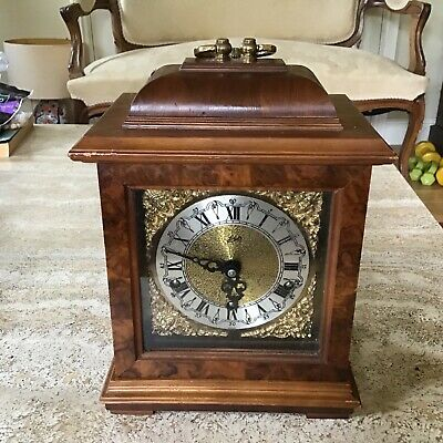 Vintage Schatz Mantel / Carriage Clock Whittington And Westminster Chimes Wo