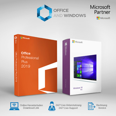Microsoft Office 2019 PROFESSIONAL PLUS && windows 10 Pro Key For 1PC New 70%OFF
